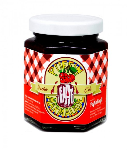 Puffin Marmelade Kirsche-Cola-Fruchtaufstrich