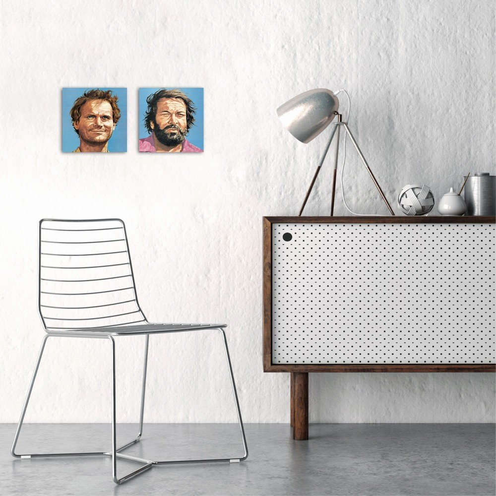 Bud Spencer und Terence Hill - Glasbild-Set (2 Glasbilder à 20X20cm) - Bud Spencer®