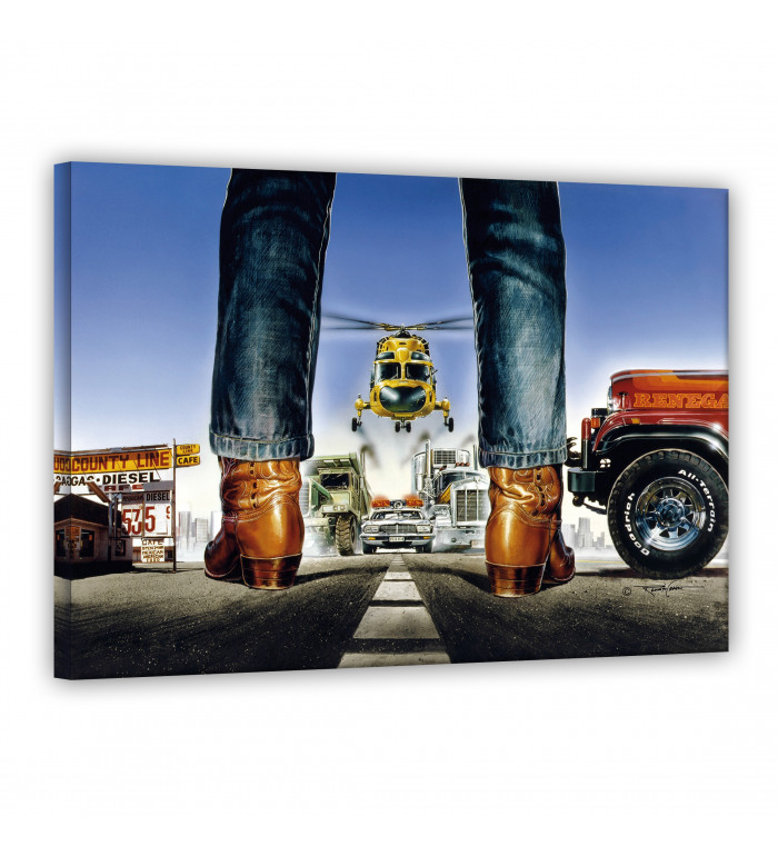 Leinwand - Stiefel - Renegade - Terence Hill - Renato Casaro Edition 120x80cm