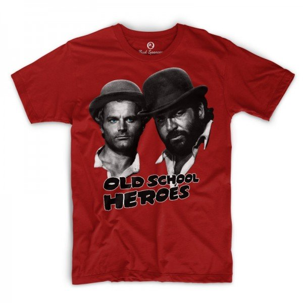 Old School Heroes - T-Shirt (rot) - Bud Spencer®