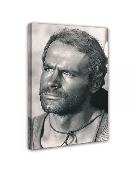 Leinwand - Der müde Joe - Portrait - Die rechte und die linke Hand des Teufels - Terence Hill 60x80 cm