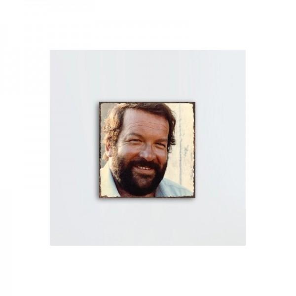 Bud Spencer Portrait 1 - MDF-Schild (20x20cm) - Bud Spencer®