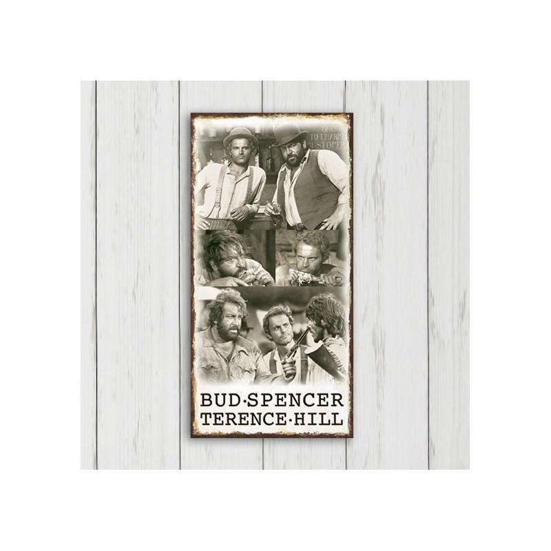 Der Kleine & Der müde Joe - MDF-Schild (20x40cm) - Bud Spencer®