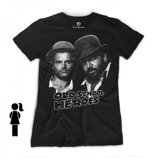 Old School Heroes - Girls T-Shirt (schwarz) - Bud Spencer®