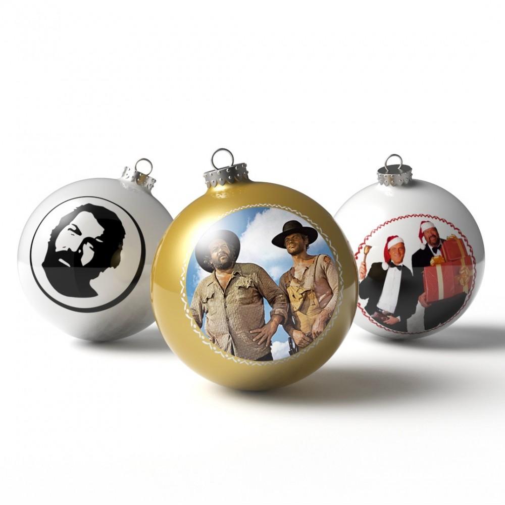 Christbaumkugeln / Weihnachtskugeln (3'er Set) - BUD SPENCER®