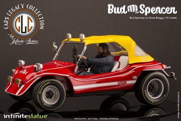 Infinite Statue Dune Buggy Modell mit Bud Spencer 1:18