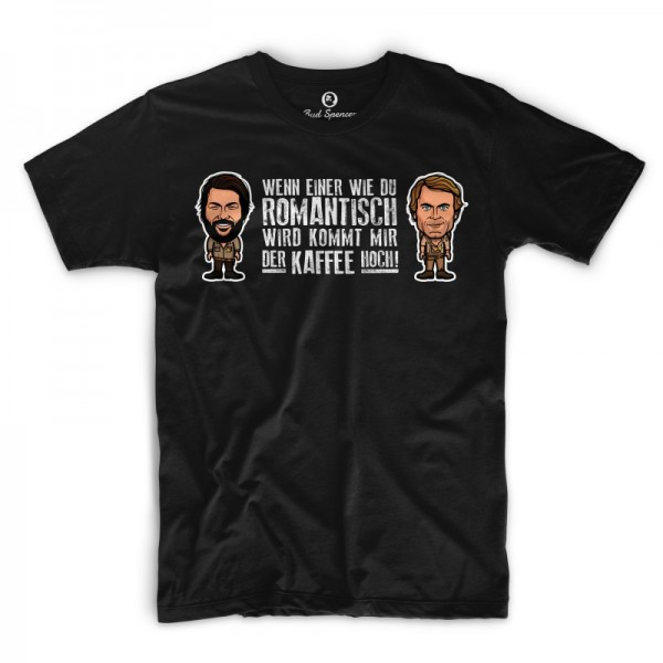Romantisch - T-Shirt (schwarz) - Bud Spencer®