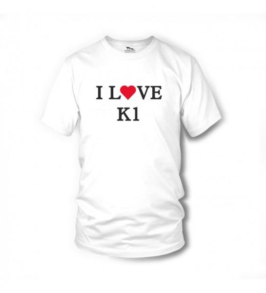 I LOVE K1 - T-Shirt (weiss) - Zwei bärenstarke Typen - Terence Hill