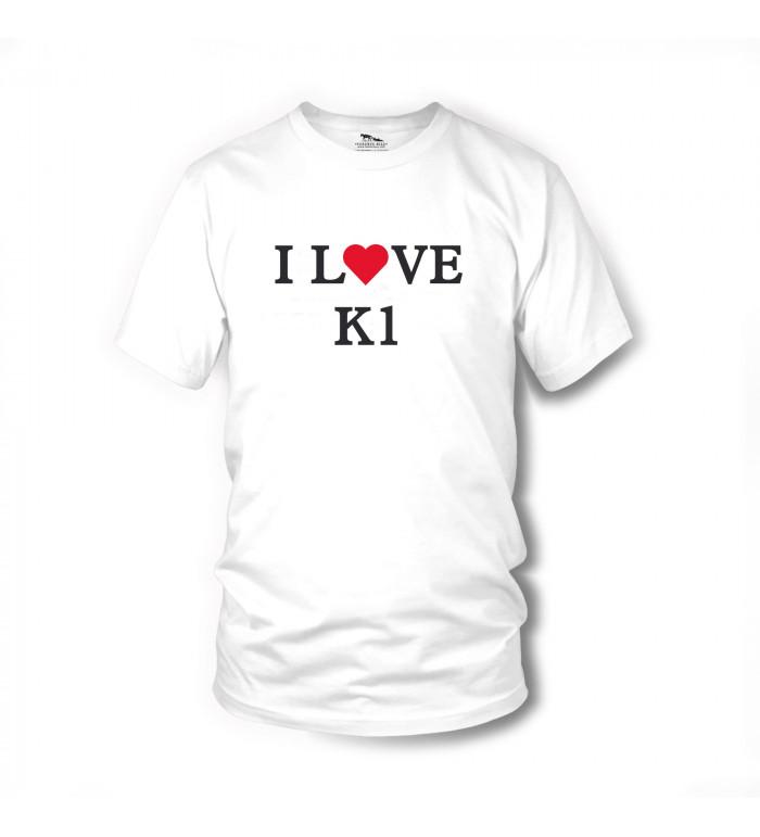 I LOVE K1 - T-Shirt (weiss) - Zwei bärenstarke Typen - Terence Hill L