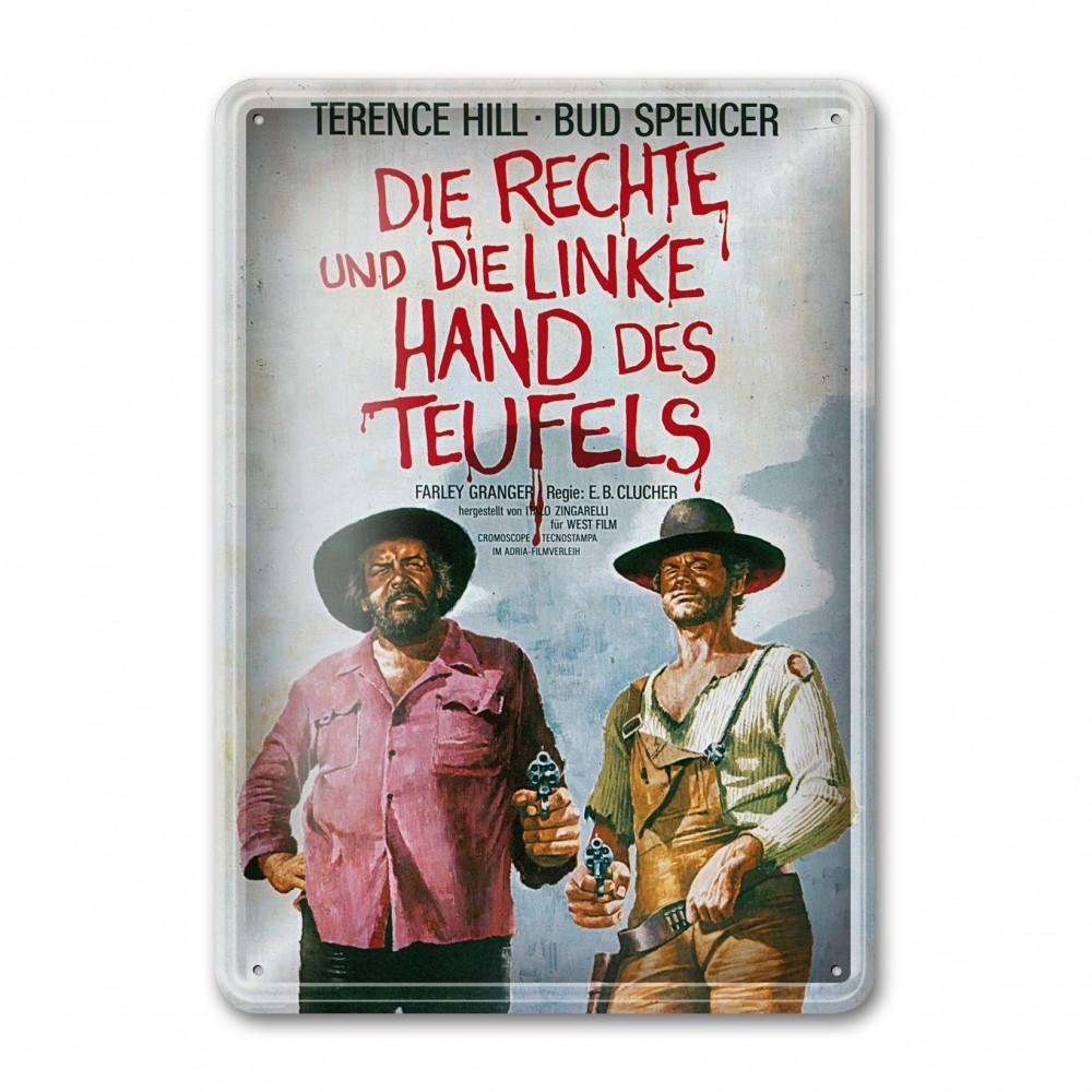 Filmplakat / Die rechte und die linke Hand des Teufels - Blechschild (30x23cm) - Bud Spencer®