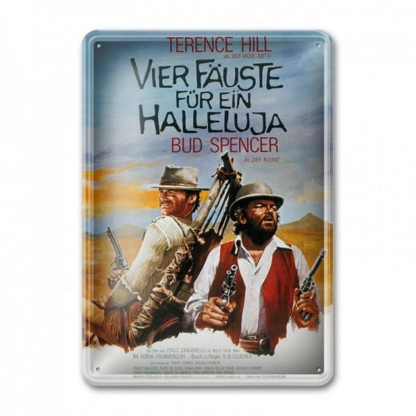 Filmplakat / Vier Fäuste für ein Halleluja - Blechschild (30x23cm) - Bud Spencer®