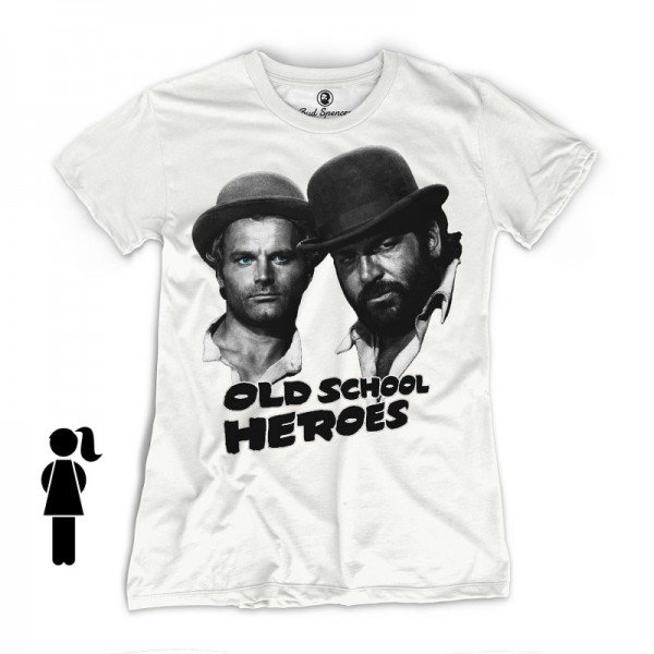 Old School Heroes - Girls T-Shirt (weiss) - Bud Spencer®