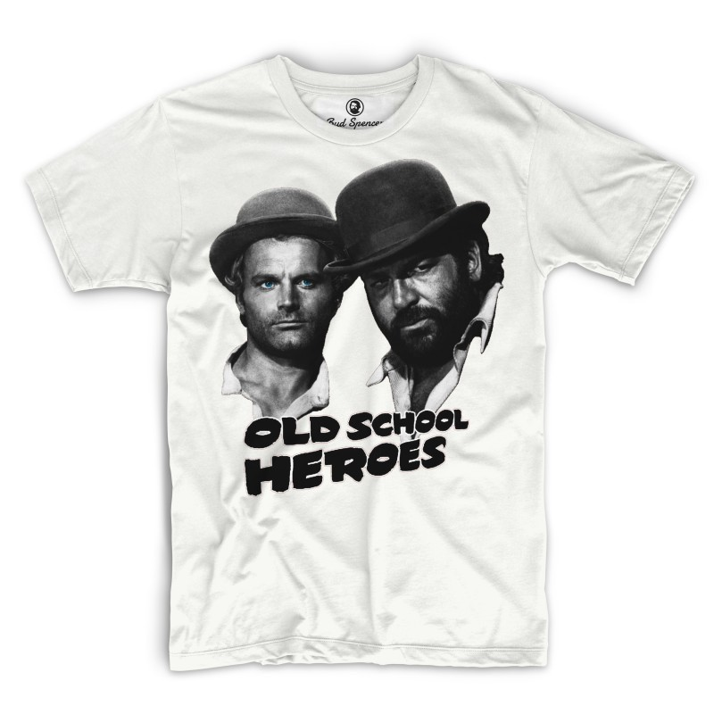 Old School Heroes - T-Shirt (weiss) - Bud Spencer®