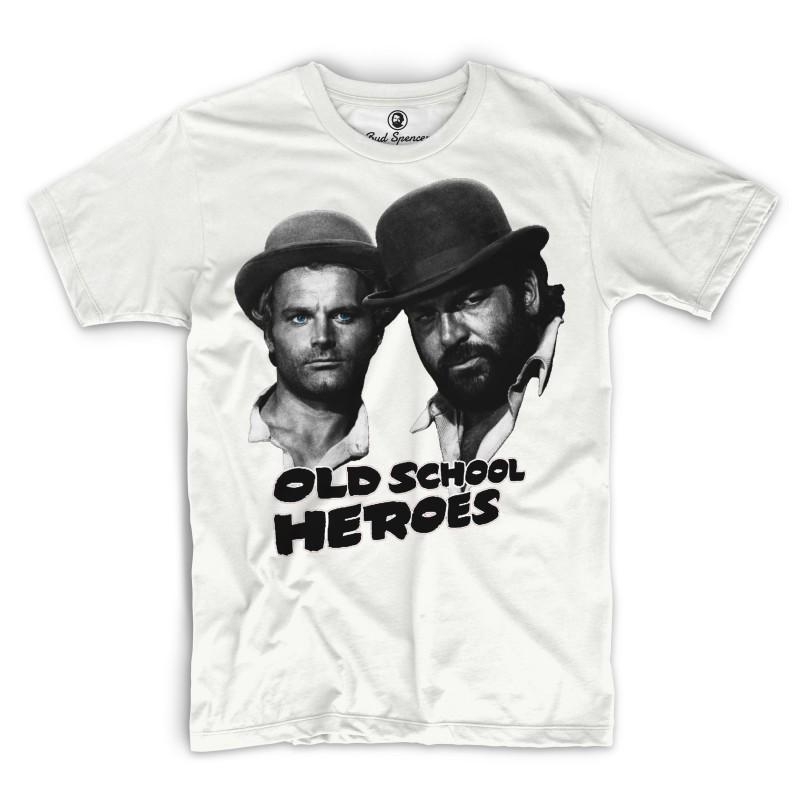 Old School Heroes - T-Shirt (weiss) - Bud Spencer® XXL