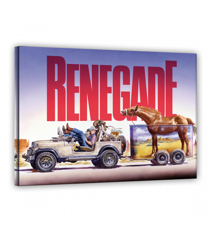 Leinwand - Jeep - Renegade - Terence Hill - Renato Casaro Edition 120x80cm