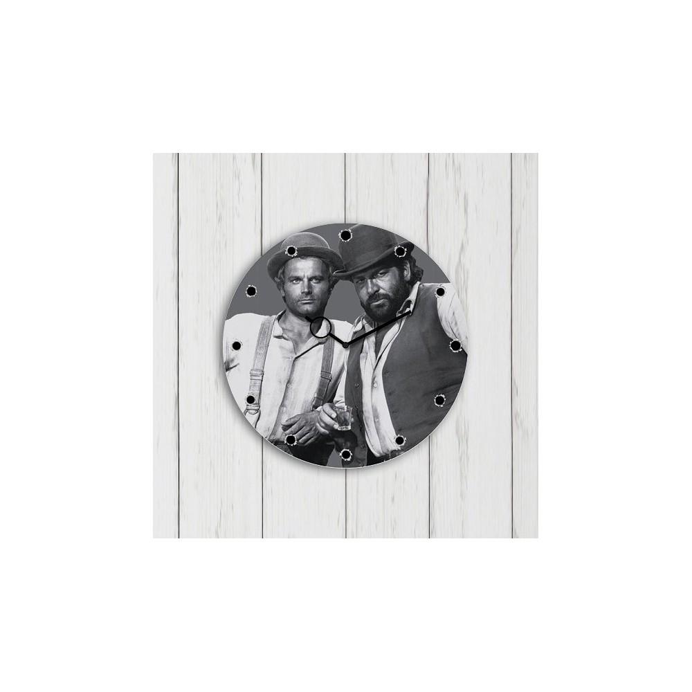 Vier Fäuste für ein Halleluja - Glasuhr (30x30cm) - Bud Spencer®