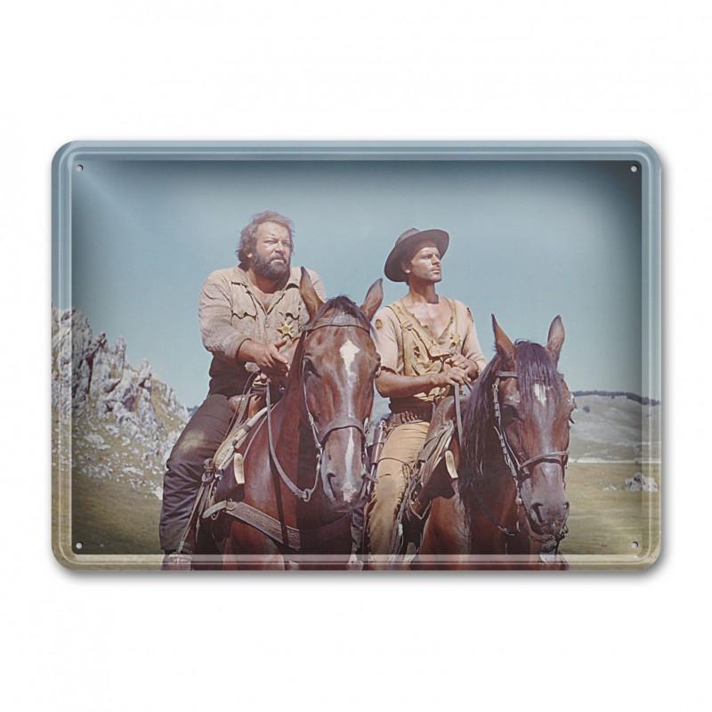 Brüder auf Pferd / Die rechte und die linke Hand des Teufels - Blechschild (30x23cm) - Bud Spencer®