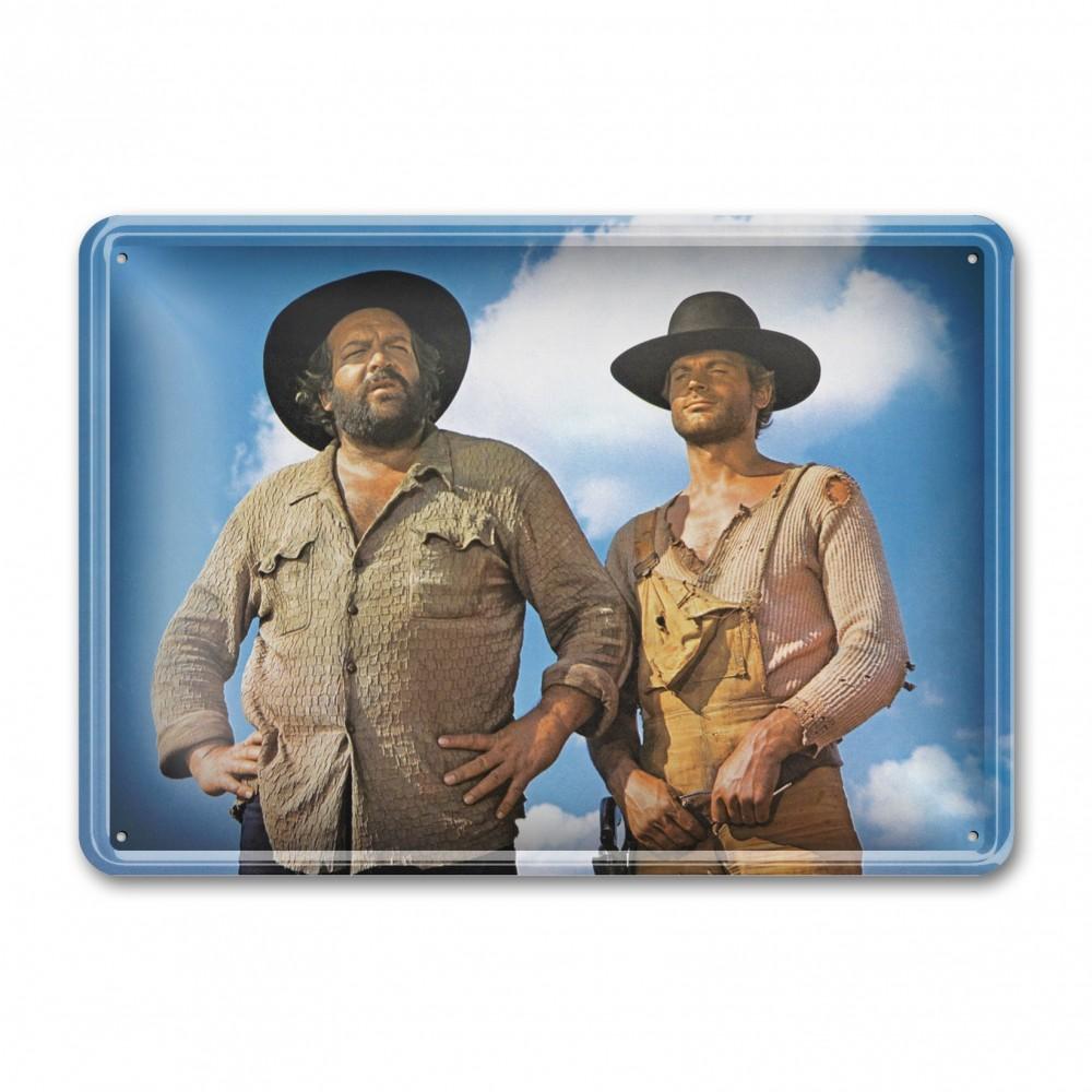Der Kleine & Der müde Joe / Die rechte und die linke Hand des Teufels / stehend - Blechschild (30x23cm) - Bud Spencer®