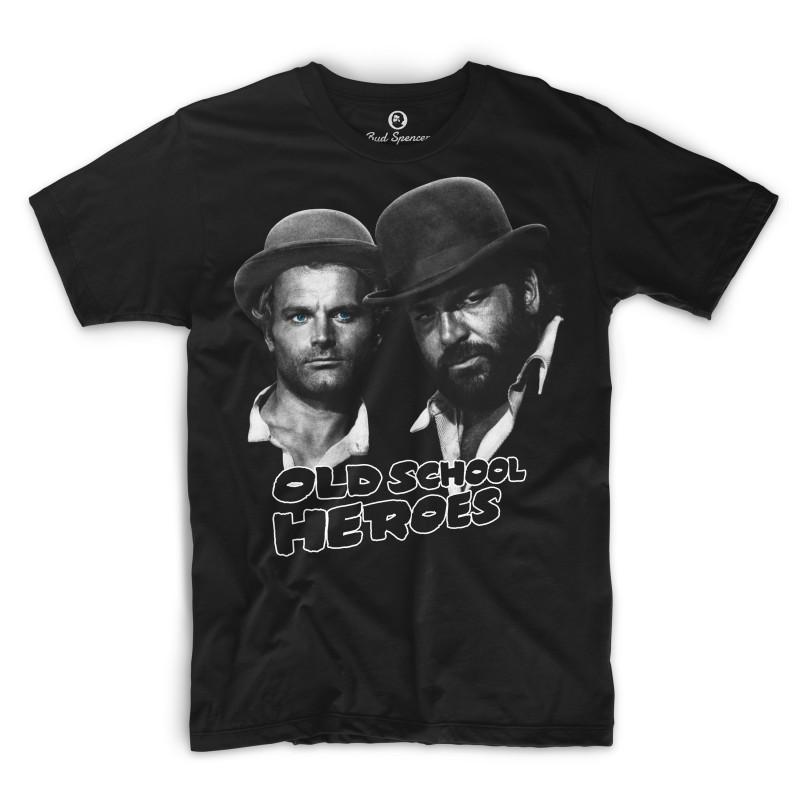 Old School Heroes - T-Shirt (schwarz) - Bud Spencer® S